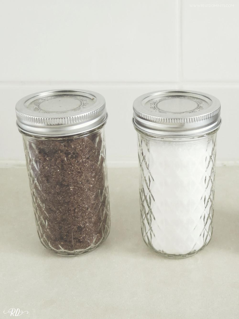 sugar mason jars