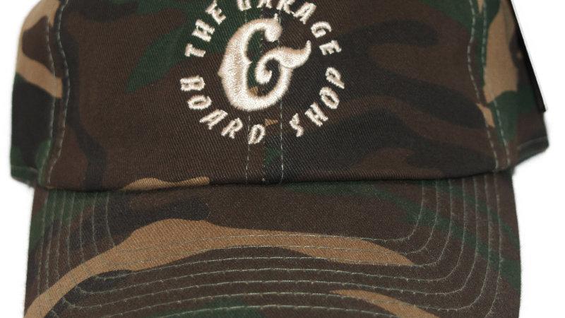the garage board shop G dad hat