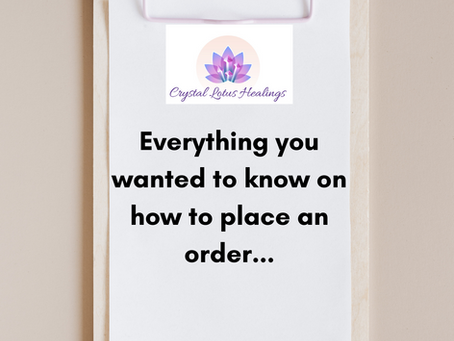 Everything You Wanted to Know on How to Place an Order...