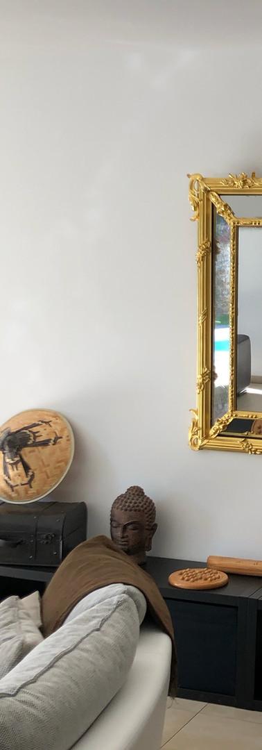 pose du miroir redoré