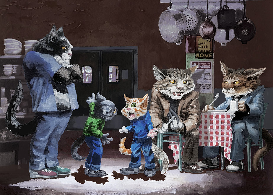 gangstercats.withpainting.2.0718.jpg