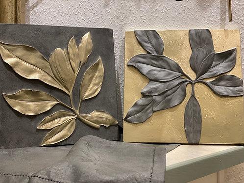Wandbild Aiden grau oder champagner gold