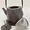 Thumbnail: Teekanne aus Gusseisen - Grau/Gold mit Hirsch 0,8 l