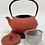 Thumbnail: Teekanne aus Gusseisen - Rot Inhalt 0,9 l