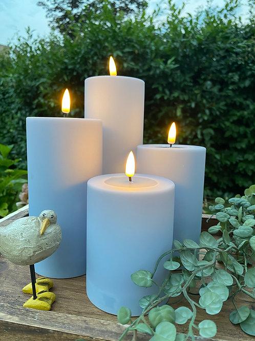 Outdoor Deluxe Homeart LED-Kerze MIA - Hellblau