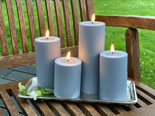 Outdoor Deluxe Homeart LED-Kerze MIA - Grau