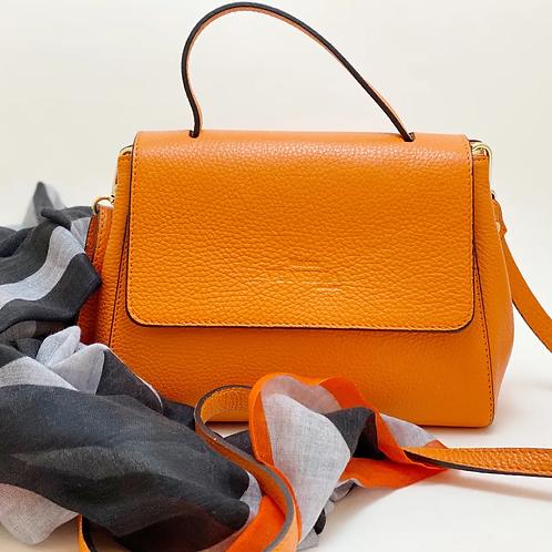 MARCO VENEZIA Leder-Handtasche Nava orange