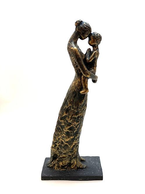 Skulptur Mutter und Kind
