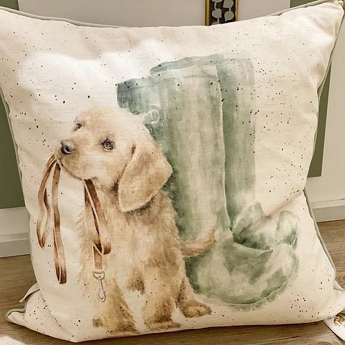 "Wrendale Designs Dekokissen -Hund ""Hopeful"""