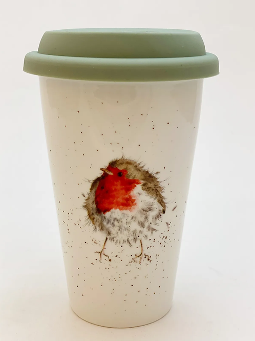 Wrendale Designs Coffee to Go Rotkehlchen