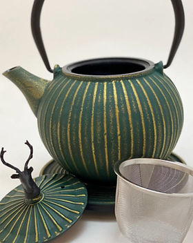 Ja-unendlich Teekanne Gusseisen Design-Teekanne, Japanisch
