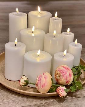 LED Kerzen Deluxe Homeart mit Wachsspiegel, Fernbedienung und Timer