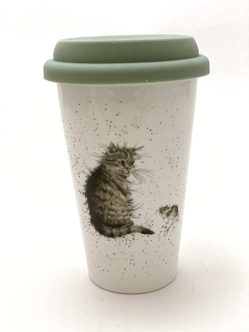 Wrendale Designs Coffee to Go - Katze & Maus