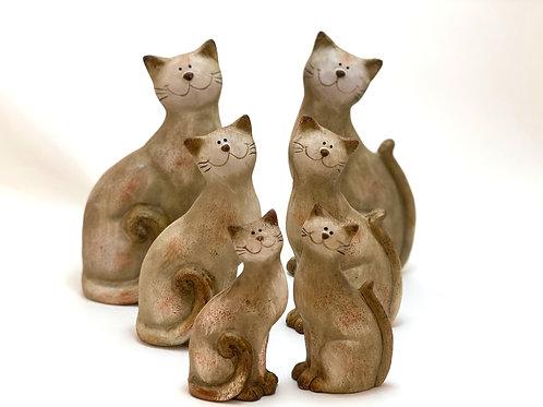 Keramik - Katzen sitzend