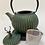 Thumbnail: Teekanne aus Gusseisen - Grün/Gold mit Hirsch 0,8l