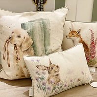 Wrendale Designs, Kissen, England, Hundekissen, Fuchskissen, Hase, Hasenkissen, Süße Tierkissen
