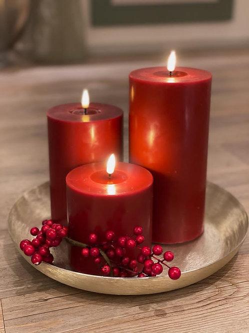 Deluxe LED-Kerze - Rot