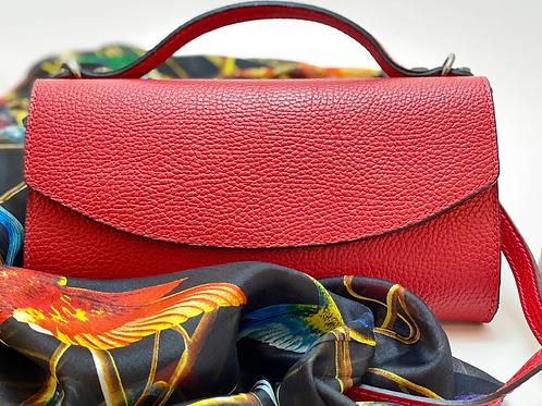 Handtasche aus Kunstleder - Senfgelb