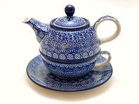 Bunzlauer Keramik, Porzellan, blau, Muster, Steingut, Polen, reduziert