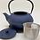 Thumbnail: Teekanne aus Gusseisen - Royal-Blau 1,0 l