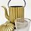 Thumbnail: Teekanne aus Gusseisen - Gold Inhalt 1,0 l