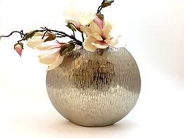 Aluvase, Vase, Schale, Aluschale, Silber, Gold, Dekoration, Glas, Skulptur, Lampe, Lavinia, Colmore,