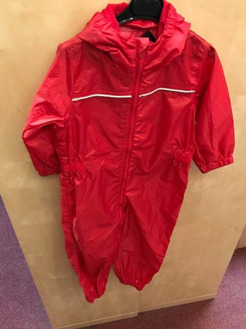 Kindergarten Red Puddlesuit