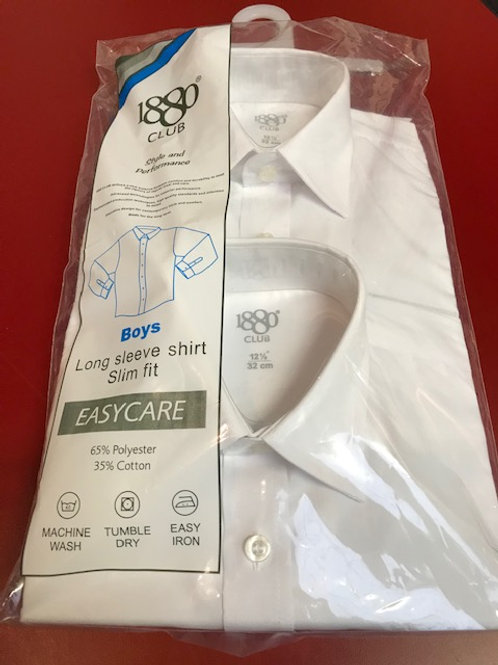 1880 Slim Fit white long sleeve shirt - 2 Pack