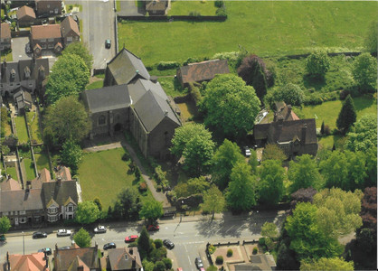 From the air (Manor Court Rd.)