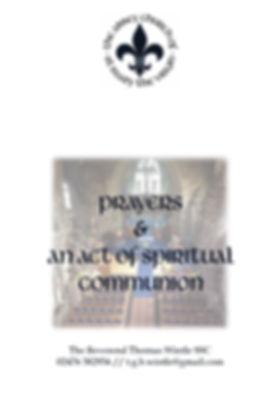 A book of prayers and SpiritualCommunion