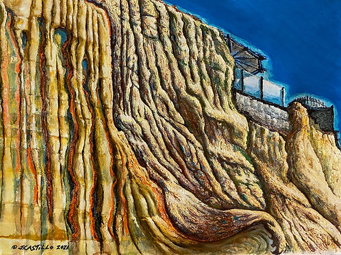 Trails of Tears in Sandstone Cliffs