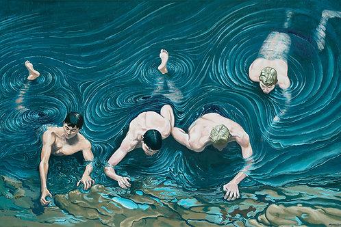 Four Boys Swimming