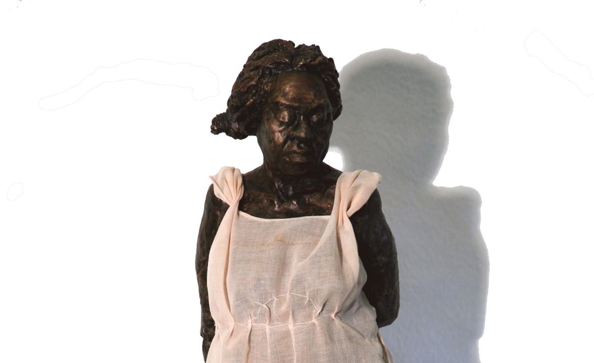 Woman in Gauze Linen Dress