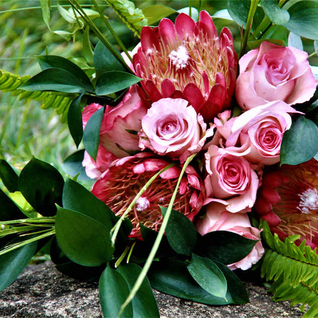 Protea and Roses Wedding Bouquet.JPG