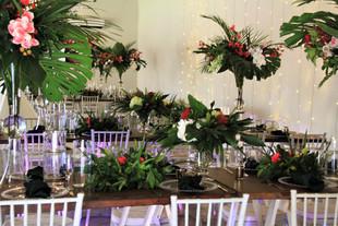 Tropical wedding setup at Gracelands T&T
