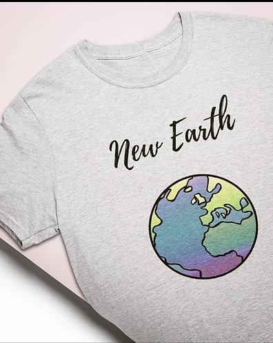 T-Shirt Terre Gris Femme