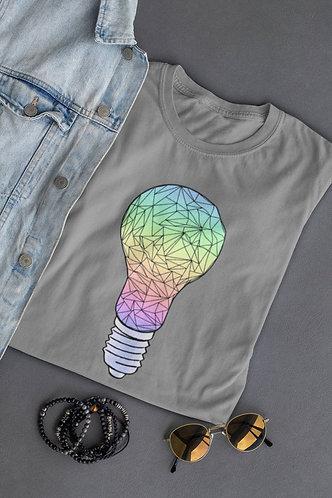 T-Shirt Ampoule Gris Homme