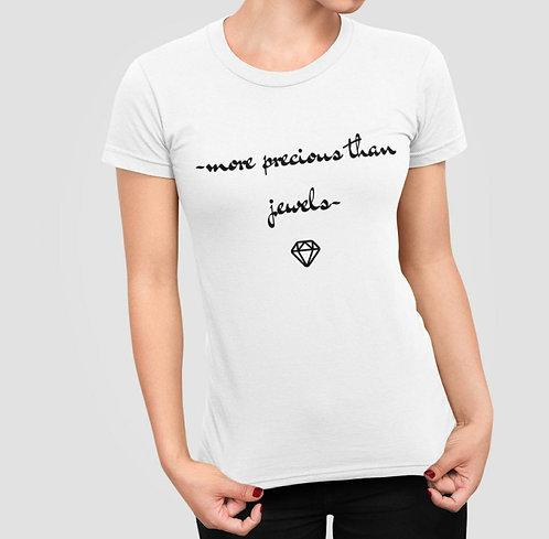 T-Shirt Diamant Blanc Femme