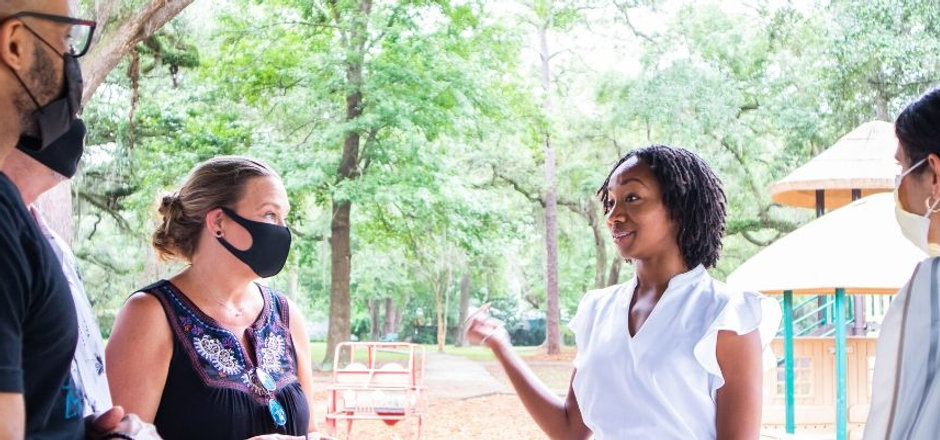 nicole hamm talks to Jacksonville residents