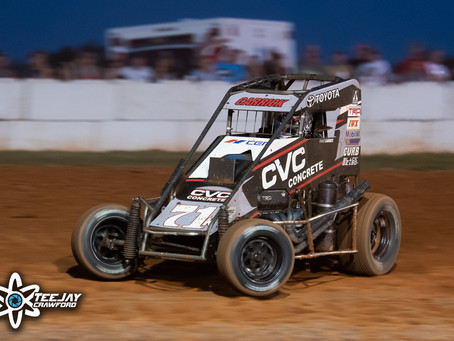 Tanner Carrick Records Fifth and Sixth Place Finishes During Rain-Shortened USAC PA Midget Week