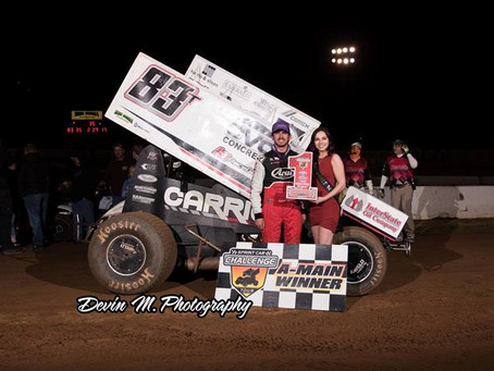 Tanner Carrick finds redemption for first Sprint Car Challenge Tour win on Saturday