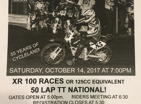 Tribute to the Founders - Motocross Race:  Saturday October 14th