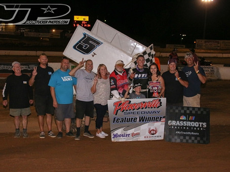 Henry wins on last corner at Placerville Speedway