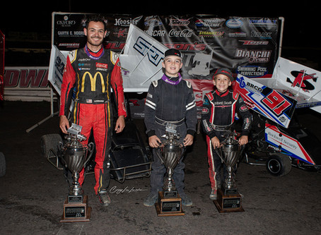 Kyle Larson Clean Sweeps Outlaw Kart Showcase Presented by McDonald's
