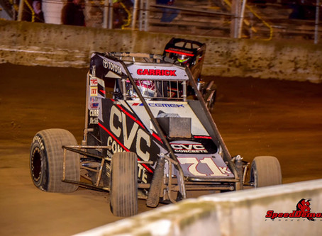 Tanner Carrick Comes From 'B' Main to Finish 8th in 'A' at Belle-Clair Speedway