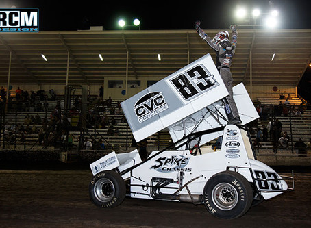Tanner Carrick Breaks Through to Score First Career Winged Sprint Car Feature Event Win