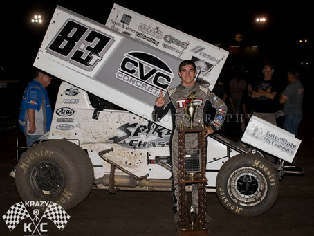 Tanner Carrick Captures First Sprint Car Victory