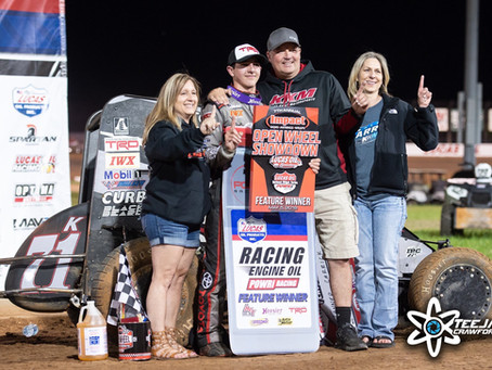 Tanner Carrick Scores First Midget Win at Lucas Oil Speedway -