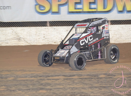Carrick Thrills Crowd During Second Place Run at Jacksonville Speedway