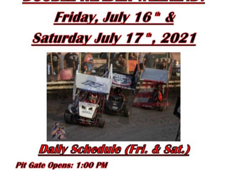 Outlaw Kart Double Header Weekend Info!